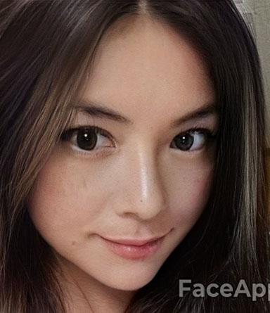 FaceAppの女性化HDフィルター