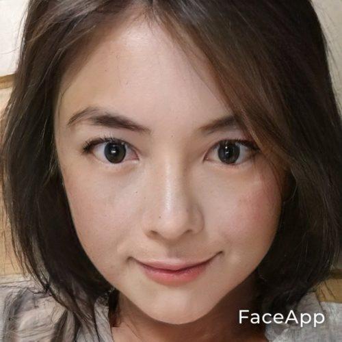 faceappでバーチャル女装!
